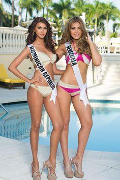gorgeous..>! Miss Dominican Republic and Miss Venezuela...!