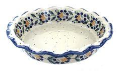 Sunflower Pie Plate - Blue Rose Polish Pottery