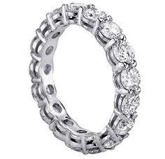 18K White Gold Shared Prong Round Diamond Eternity Wedding Band (3.60-4.00 CT TDW) $4,199.00