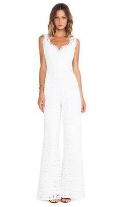 Shop for Alexis Aruba Lace Jumpsuit in Ivory at REVOLVE. Bridal Jumpsuit, Lace Jumpsuit, Unusual Dresses, Revolve Clothing, Wide Leg Jeans, Party Fashion, Fashion Beauty, Women's Fashion, Fashion Forward