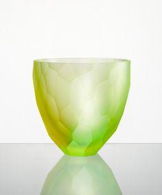 Modern Czech glass. Rony Plesl. 7.CUBISM BOWL