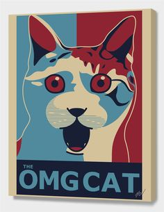 """Maicon MCN - The OMG Cat - Ob Poster"", Numbered Edition Canvas Print by ✩ Maicon MCN - From $89.00 - Curioos"