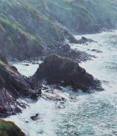 Wheal Edward Cliffs, Oil on Canvas, Paul Lewin  With SoundScapes!