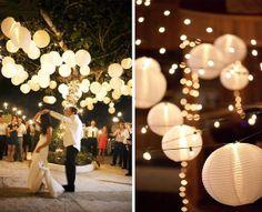 "Paper Lanterns, Wedding Decoration, Party decoration, Nursery Decor, Baby shower Decor, Set of 12 (12"")"