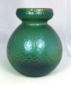 Kralik Martele Vase. Loetz Art Nouveau era. Art Glass Czech Bohemian