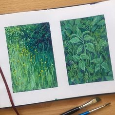 🌿💕 Hope you've all been well! My mom came from the US to visit me in the Netherlands and I took time off to spend with her 🤗… Sketchbook Inspiration, Art Sketchbook, Art Inspo, Gouche Painting, Art Amour, Bel Art, Art Et Illustration, Art Illustrations, Ouvrages D'art