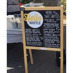 "Cannon Beach Farmers Market happens today! 2-5 in the Public Parking by Sleepy Monks Coffee.... ""Hello Waffles!"" #nofilter #farmersmarket #instafood"