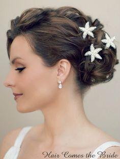 Hair Comes the Bride - Rhinestone Starfish Hair Pin ~ Aloha, $28.00 (http://www.haircomesthebride.com/rhinestone-starfish-hair-pin-aloha/)