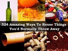 524 Amazing τρόποι για την επαναχρησιμοποίηση πράγματα που θα Κανονικά Throw Away