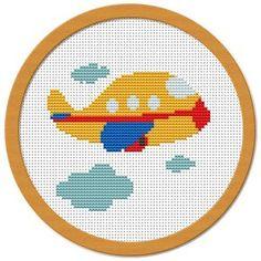 My Little Airplane Cross Stitch Pattern PDF by Atinyshop on Etsy