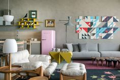 Welcome to the bold, contemporary world of Brazilian interior architect Paula Neder ...where ...