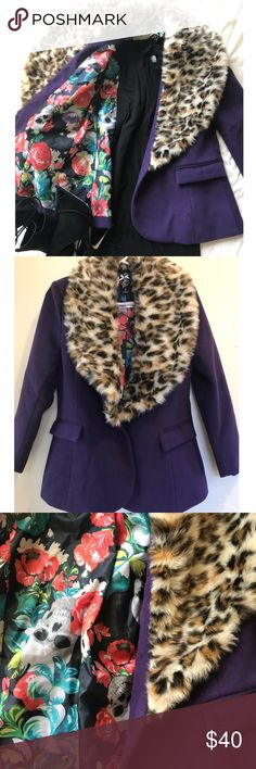 Iron Fist Roaming Heart Jacket Brand New . Wonderfully tailored fit , super cozy for colder months - the faux fur trim is so soft on this piece!  All items come freshly Steam Ironed wrapped in tissue paper Ready to Wear💕 Iron Fist Jackets & Coats