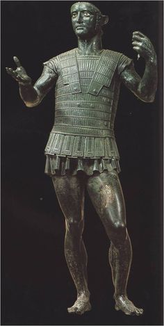 Bronze statue of a warrior - ~400 BC    Inscribed with the name Ahal Trutitis