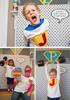 Super Hero Booth: Fun photo booth for superhero party
