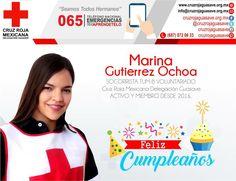 A nombre de la gran familia de #CruzRojaGuasave  #FelizCumpleaños Socorrista Voluntaria TUM-B, que sean muchos más.