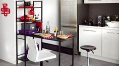 Du mobilier conçu pour les petits espaces // http://www.deco.fr/diaporama/photo-petits-espaces-le-mobilier-etroit-entre-en-scene-53714/meuble-etroit-table-haute-753234/#slideshow_trans