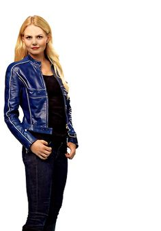 Jennifer Morrison (Emma Swan on Once Upon A Time) in a blue