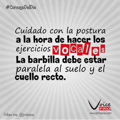 Cuidado con la postura a la hora de hacer los ejercicios vocales. La barbilla debe estar paralela al suelo y el cuello recto.  Dra. Janaína Mendes - VoicePRO #VozSana #Voice