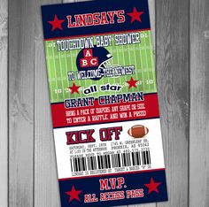 Houston Texans Inspired Football Baby Shower by CLaceyDesign, $15.00