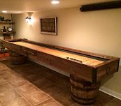 Matt Trask's shuffleboard table