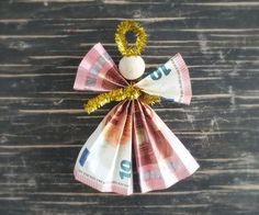 Geldengel fold ☆ Christmas gifts at Geschenke.de - Travel ideas for all around The World - Autumn & Winter Diy Gifts For Friends, Gifts For Coworkers, Gifts For Him, Presents For Kids, Diy Presents, Christmas Crafts, Xmas, Christmas Ornaments, Christmas Angels