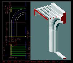 الرسم المعماري بالحاسوب/ computer architectural drawing لوحة 9/1- الانشاءات