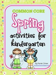 Spring Activities for Kindergarten with ELA & Math CCSS! Emergent readers, centers, butterfly mini-unit & more! $