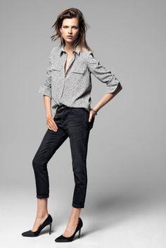 mango bette franke winter12 Bette Franke Models Cool Fashion for Mangos Winter Catalogue