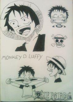 Monkey D. Luffy, One Piece. By: Mo Scarlet