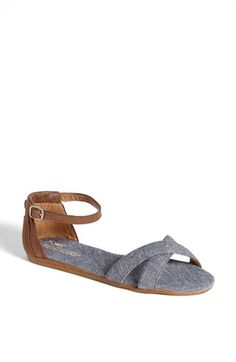 TOMS 'Correa' Ankle Strap Flat Sandal