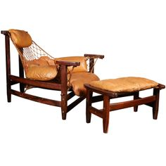 Captain's Chair by Jean Gillon with Ottoman in Rio Rosewood   From a unique collection of antique and modern lounge chairs at http://www.1stdibs.com/furniture/seating/lounge-chairs/