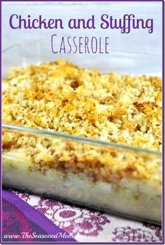 Chicken and Stuffing Casserole -- the perfect make-ahead comfort food! www.TheSeasonedMom.com