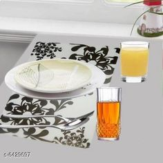 Table Cover Himanshi Set of 6 Dining Table Place Mats  Material: PVC Pack Of: Pack Of 6 Pattern: Printed Sizes:  Free Size (Length Size: 44 cm Width Size: 1 cm Height Size: 29 cm) Country of Origin: India Sizes Available: Free Size   Catalog Rating: ★4.2 (468)  Catalog Name: Fancy Table Cover CatalogID_1022896 C129-SC1637 Code: 802-6429697-993