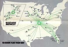 Route Map 1966 Pan American World Airways