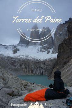 Faire le trek du W ou l'aternative du O dans le parc de torres del paine en Patagonie chilienne. Un magnifique trek de 5 ou 9 jours dans ce parc naturel d'exception. Un guide pratique avec carte des itinéraires et une liste du matériel à emporter avec soi pour partir faire du trek à Torres del Paine
