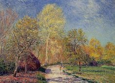 A May Morning in Moret by Alfred Sisley