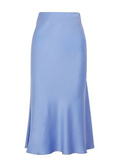 Classic periwinkle silk midi skirt - Lilly is Love Midi Skirt Outfit, Midi Skirts, Skirt Outfits, Outfits Jeans, Cute Outfits, Fashion Outfits, Where To Buy Clothes, Harvey Nichols, Silk Skirt