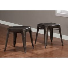 @Overstock - Vintage Tabouret Tables (Set of 2) - Add extra storage or additional seating with these durable vintage tables. The gray vintage tables are mar- and scratch-resistant, so they can handle typical wear and tear, and when you don't need them, they are easily stacked and stored.  http://www.overstock.com/Home-Garden/Vintage-Tabouret-Tables-Set-of-2/7585316/product.html?CID=214117 $89.99
