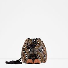 BEADED CROSS-BODY BUCKET BAG-View all-WOMAN-NEW IN | ZARA United States