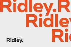 Ridley Grotesk by Radomir Tinkov on @creativemarket