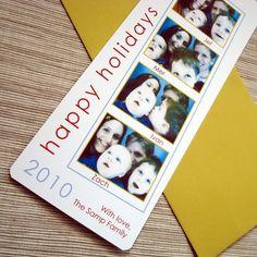 photostrip holiday card