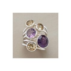 polyvore amethyst | Polyvore / CITRINE & AMETHYST CLUSTER RINGS - Winter Favorites ...