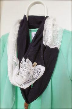 ECHTAnne; Sjaal van oud jurkje en gordijn #DIY