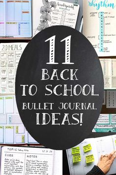 Eleven back to school bullet journaling layouts that will ease the family back into the school year. You'll find layouts for self-care, meal planning, chore tracking, homework reminders, and time management for kids. Back To School Bullet Journal, Bullet Journal Health, Bullet Journal Work, Bullet Journal Christmas, December Bullet Journal, Creating A Bullet Journal, Bullet Journal Spread, Bullet Journal Layout, Bullet Journal Inspiration