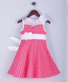Another great find on #zulily! Coral Polka Dot Dress - Toddler & Girls #zulilyfinds
