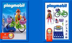 Playmobil Bike Stand with Shopper 3203