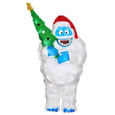 Peacocks lowes and outdoor christmas on pinterest for Abominable snowman yard decoration