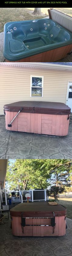 Hot Springs Hot Tub with Cover and Lift Spa Deck Patio Pool #fpv #hot #racing #gadgets #covers #tubs #technology #lifts #and #camera #tech #plans #products #parts #kit #drone #shopping