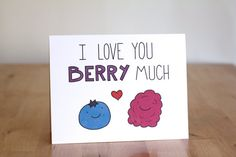 I Love You Very Berry Much. Blueberry by ClaireLordonDesign, $4.00