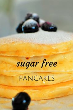 Delicious sugar free pancakes will delight even the most diehard pancake lovers! Sugar Free Pancakes, Thing 1, Sifted Flour, Fluffy Pancakes, Egg Whisk, Sugar Free Recipes, Melted Butter, Free Food, Coconut